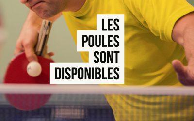 Les poules du championnat régional saison 2017/2018, phase 1